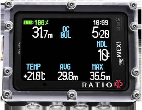 Ratio Dive Computers - iX3M Gps Deep